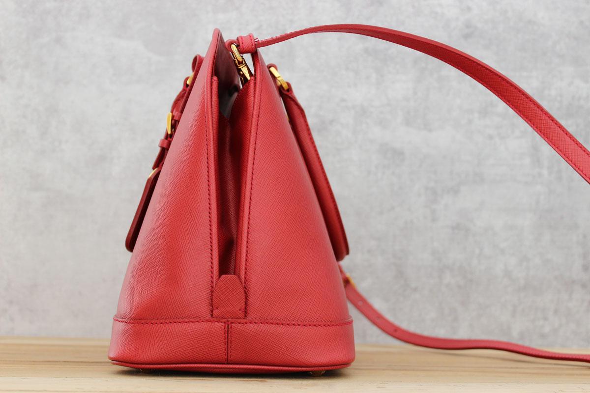 dc39a0aff65f ... spain prada red saffiano lux bn2558 leather tote 4391d db6cf