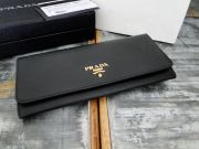 Prada Black Saffiano Metal Wallet
