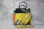 Reed Krakoff Large Multicolor Canvas & Leather Atlantique Tote