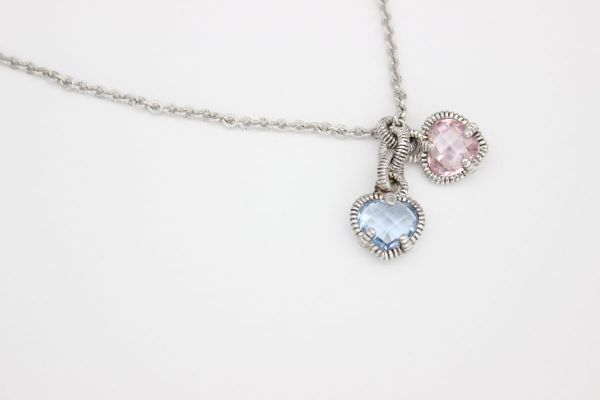 Judith Ripka Twin Heart Necklace