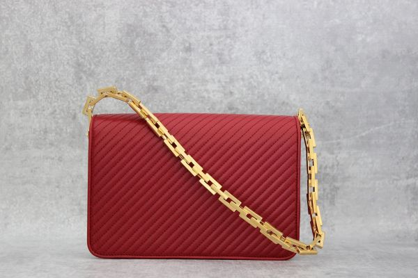 Saint Laurent 314510 Red Quilted Leather Bag