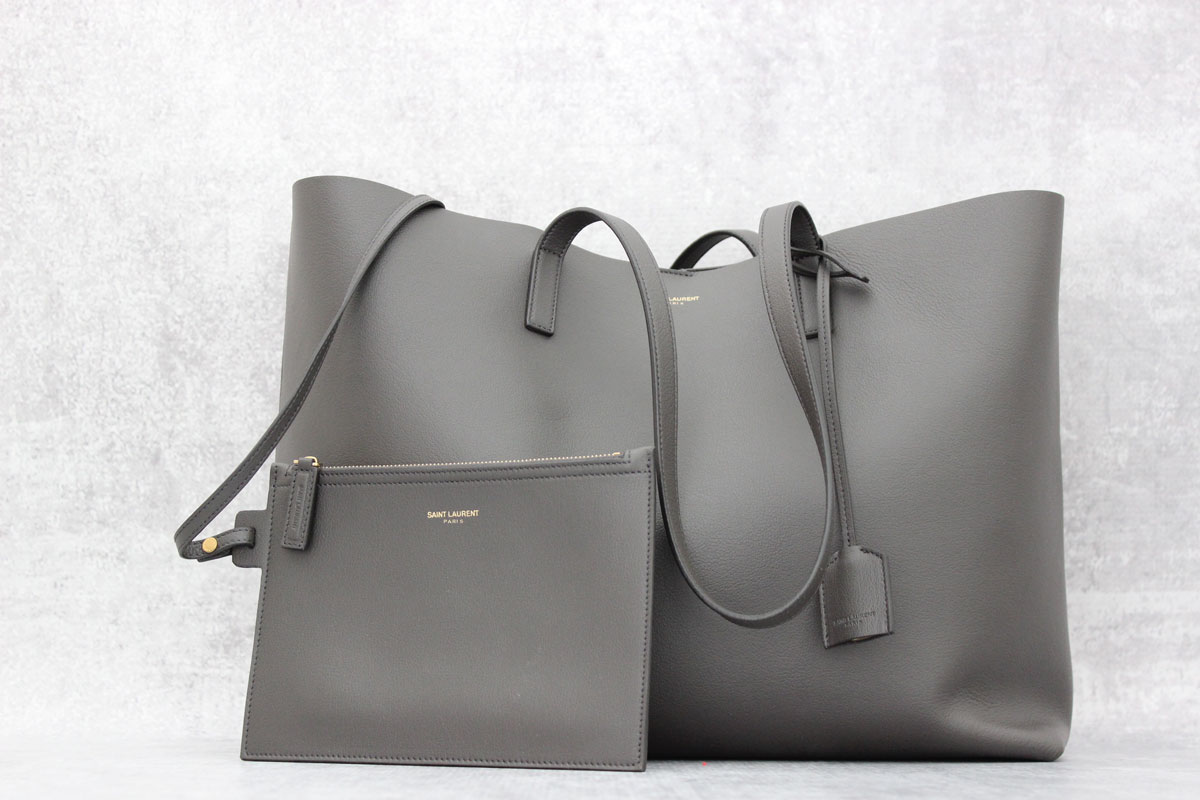 e6d36a0d6e4e4 Saint Laurent Large Shopping Tote Anthracite at Jill s Consignment