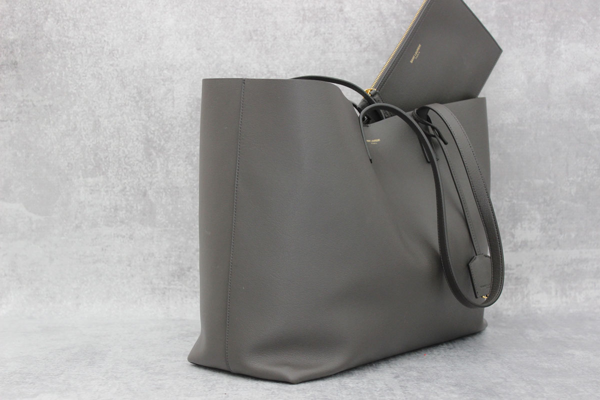 21d1f8ea2f07 Saint Laurent Large Shopping Tote Anthracite at Jill's Consignment