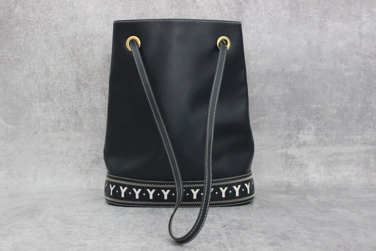 Yves Saint Laurent Vintage Navy Blue Y Bucket Bag At Jill