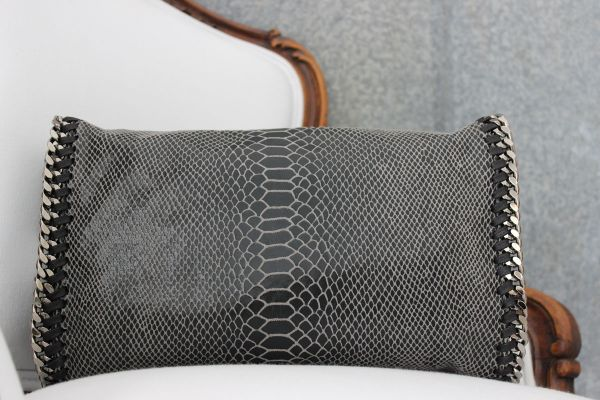stella mccartney falabella python convertible clutch flap bag