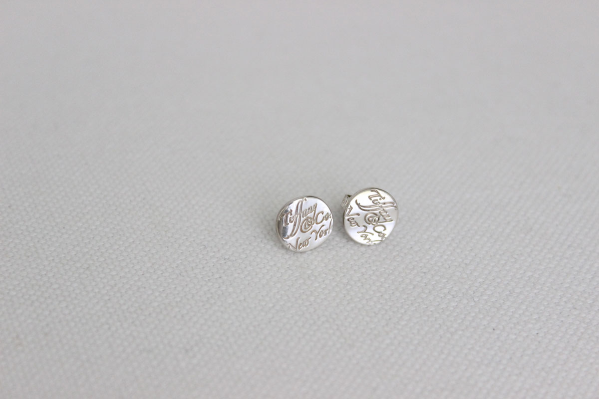 10f0e1ea7 Tiffany & Co. Notes Round Silver Stud Earrings at Jill's Consignment
