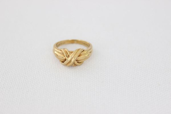 Tiffany & Co 18KT Yellow Gold X Ring