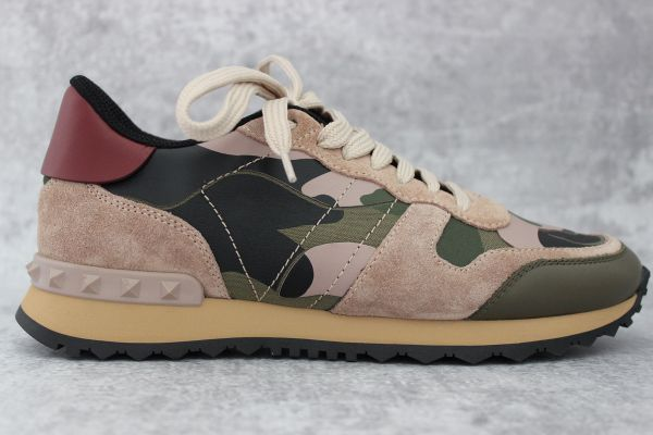 Valentino Camouflage Rockstud Sneakers