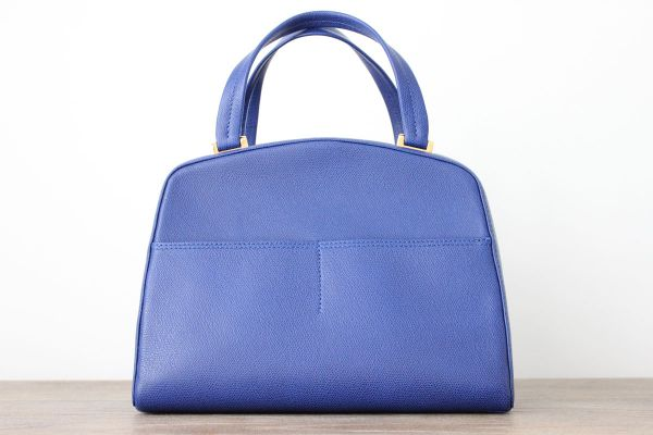 Valextra Manzoni Structured Box Bag Royal Blue