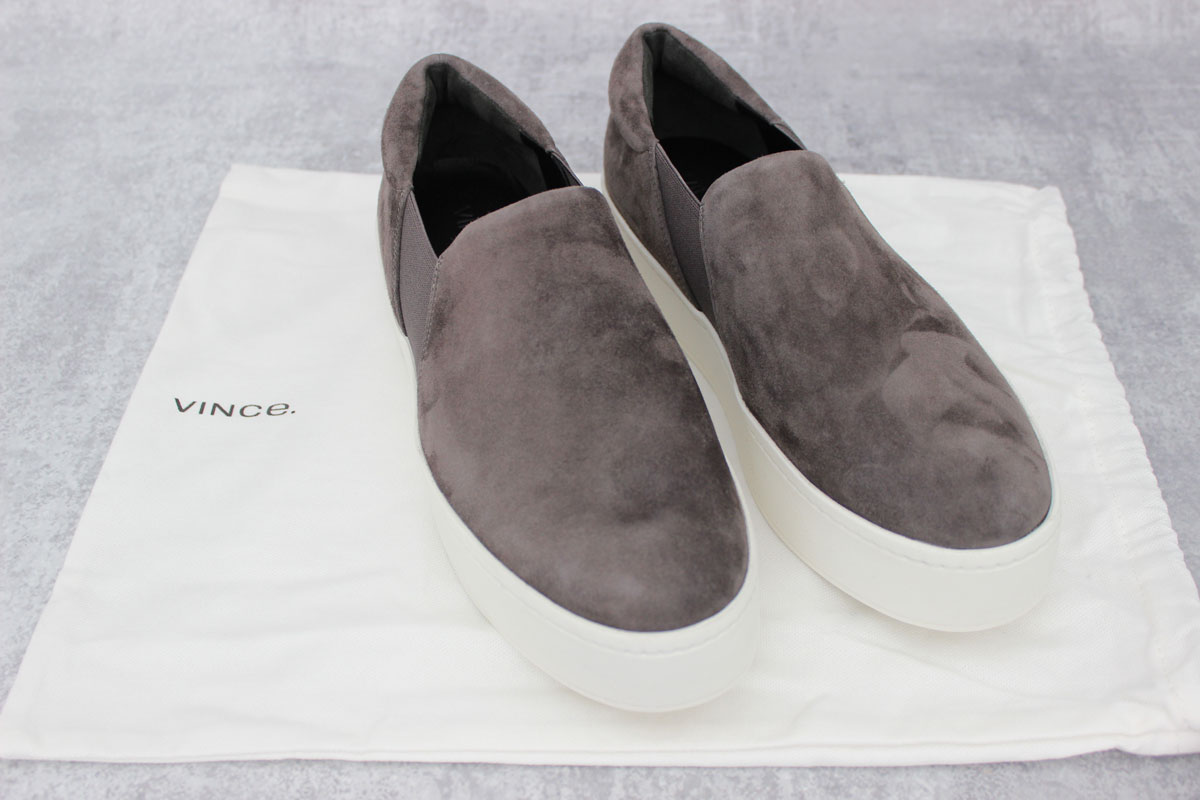 cdf3e7276fc Vince Warren Suede Platform Slip-On Skate Sneakers at Jill s Consignment