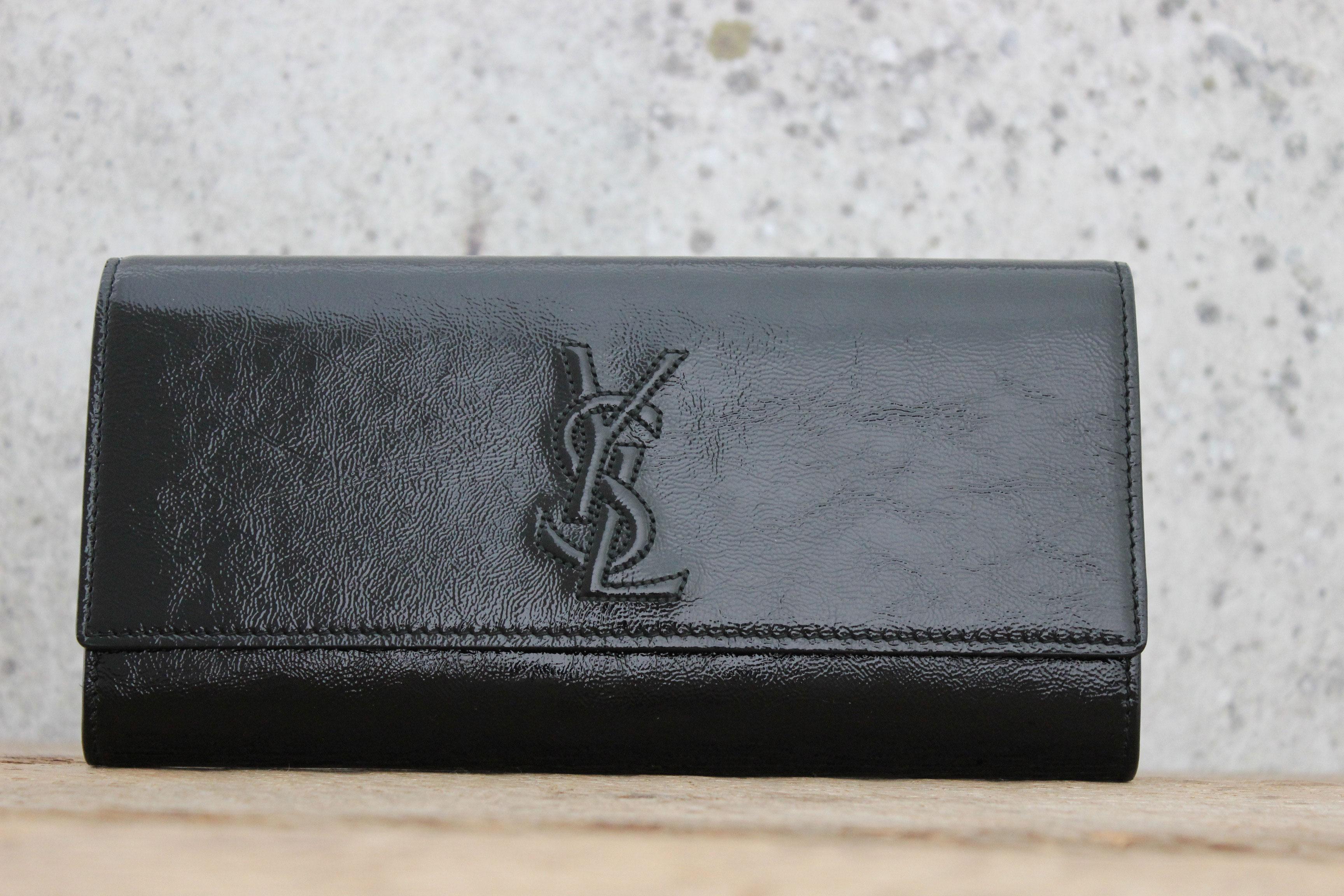 saint laurent the belle de jour patent leather clutch