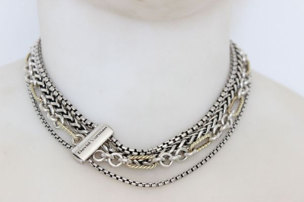 David Yurman Four Row Multi Chain Necklace At Jill S