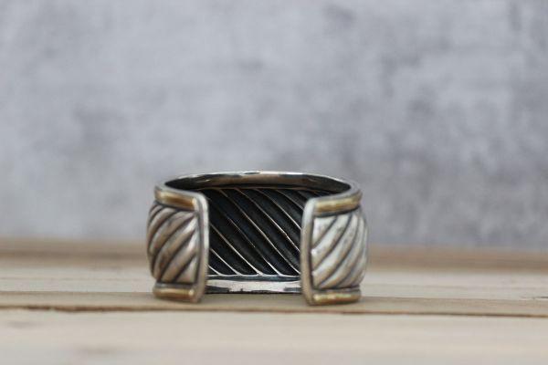 David Yurman Carved Cable Wide Cuff Bracelet